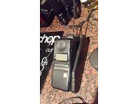 DEL BOY PHONE VINTAGE BRICK FLIP MOTOROLA PHONE AND CHARGER AND OLD Sim