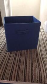 Blue storage boxes