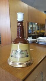 Converted Lamp Wade Bells Old Scotch Whiskey Decanter