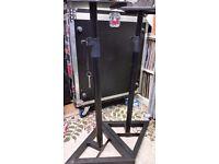 2 x QuikLok Height Adjustable Monitor / Speaker Metal Stands