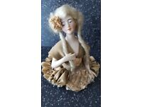 WANTED TO BUY ~ VINTAGE CERAMIC PIN CUSHION HALF DOLL ~ LADY BUYER