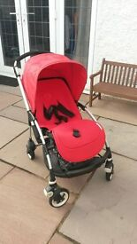 Bugaboo Bee Plus (Red, Excellent condition) + Accessories