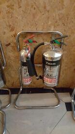 Chubb Chrome Fire Extinguishers and racks