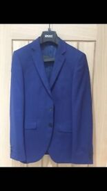 DKNY blue suite Used once at a wedding.