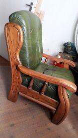 Oak frame arm chair