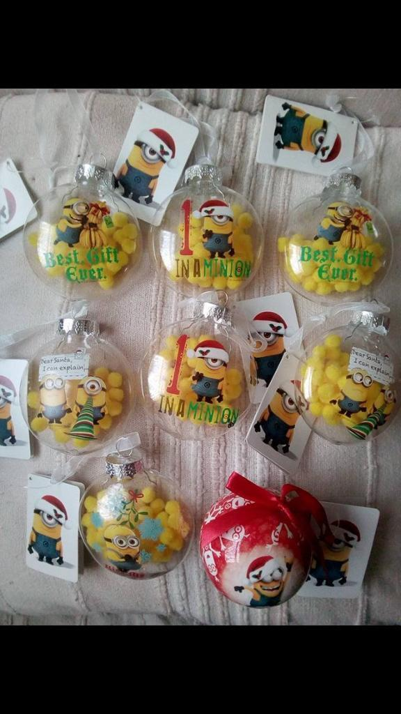 Christmas baubles ,minions .babys first Christmas .fish all £1 each