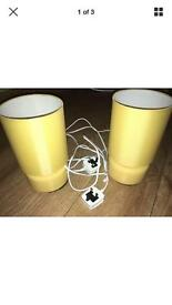 George yellow pair of lamps