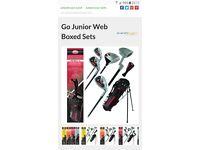 WEB junior golf set 9-12years £15