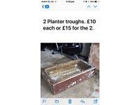 Planter troughs