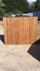 Featheredge fence panels