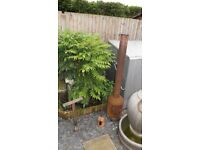 wood and garden rubbish burner