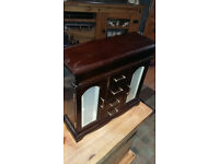 mahogany wood 2 door 4 drawer jewelley box