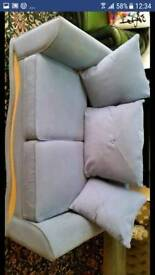 Mid blue sofa bed