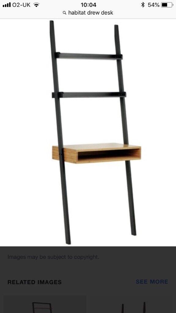 Wanted Habitat Drew Ladder Desk In Black Or White