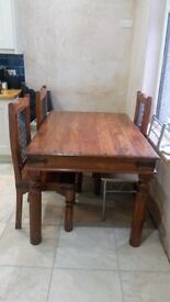 Dining tabe and 3 matching chairs