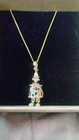 Clown pendant and chain