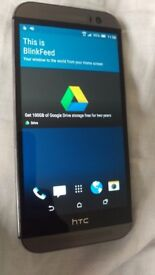 Htc one m8 released year 2014 unlocked grey looks new original screen and back fully works