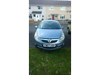 2007 Vauxhall Corsa club, 1.2 engine, grey, 5 door, petrol, manual, 12 month MOT