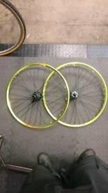 "Handbuilt Mavic x317 ""citron"" 26"" wheelset"