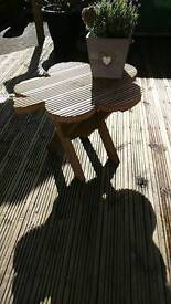 Garden table made out decking absolutely beautiful
