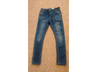 Boys next skinny jeans trousers blue age 9 years