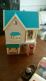 Sylvanian Families blackberry cafe and cottage