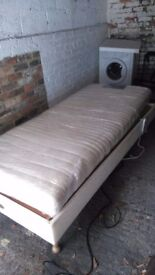 Single electric bed with foam mattress