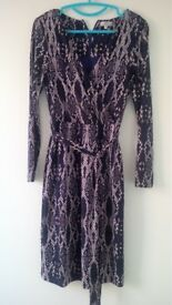 Ladies Country Casuals Snake Print jersey dress in size S