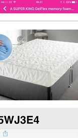 Memory foam super king mattress