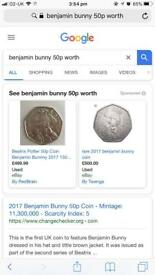 Benjamin Bunny 50p Rare Coin 2017 (Collectors Item)