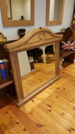 large arched reclaimed oak mirror, stunning quality item