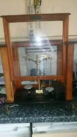 Antique chemist scales