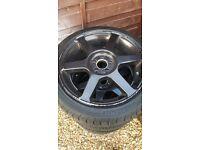 Vw mk4 golf/bora carbon dipped ally wheels