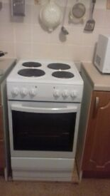 Electric cooker and hob. Freestanding