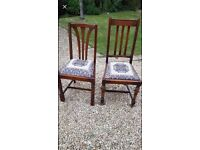 2 beautiful antique dining chairs