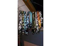 "6x Camo Dog Collars Flashing LED Large Medium 21"" Green White Blue Job Lot"