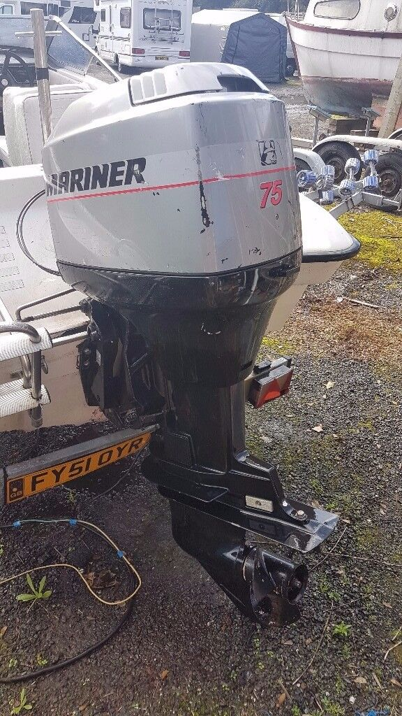 Mariner 75Hp 2001 Outboard - Low Hours - Power Tilt and Trim - Control Box