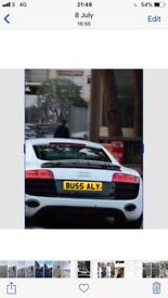 Private number plate BU55 ALY