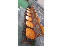 SET OF 6 SOLID WOOD FARMHOUSE CHAIRS
