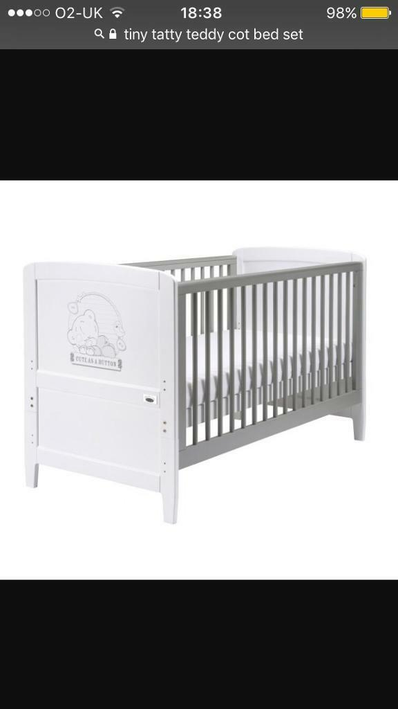 Cot / bed , tiny tatty me to you cod bed with mattress