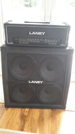 Laney Pro Linebacker Amplifier PL100 Reverb head and Laney 4x12 angled cab. Amp.