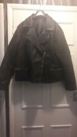 Ladies faux leather jacket size 18!