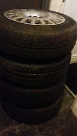 4 tyres 195 / 65 r15 steel rims verry good tred
