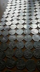 Very large collection of spare olympic 50p coins