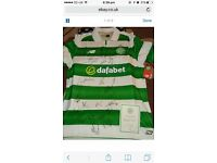 Signed Celtic top by 2016/2017 squad