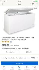 New ex display haierchest freezer Curry's customer damage and Skechers return £270 barg