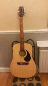 Tanglewood electro/accoustic guitar TW300. Cost £399. HAND GRAFTED GUITAR FULL SIZE