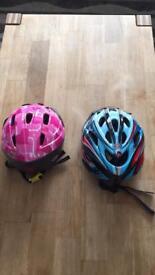 Children's cycle helmets x2