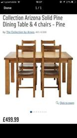 Brand New Arizona solid Pine dining table (Table Only)