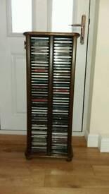 Solid oak CD storage unit